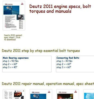 Deutz 2011 essential engine specs snip