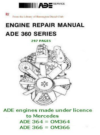 Mercedes ADE 364, ADE 366 workshop manual p1
