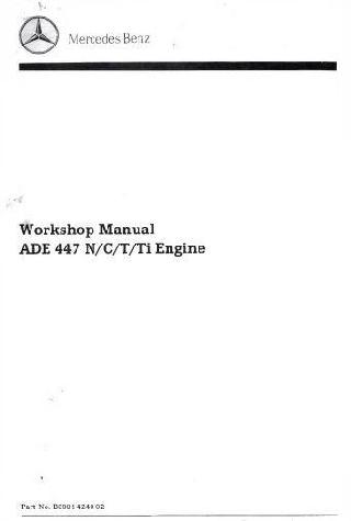 Mercedes OM447 workshop manual p1
