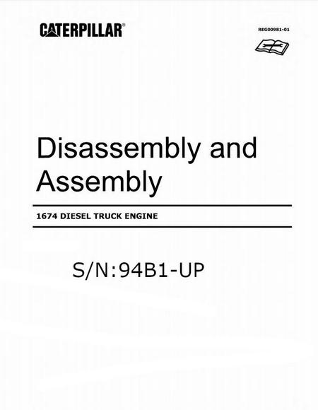 cat 1674 disassembly assembly manual-p1