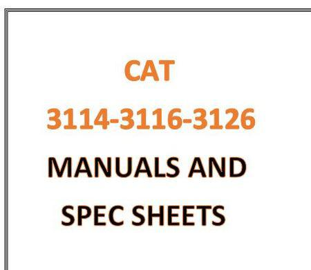 image CAT 3114 3116 3126 manuals and spec sheets