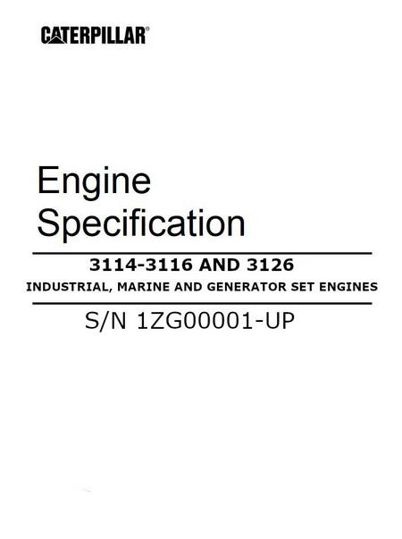 cat 3114 3116 3126 engine manuals and spec sheets rh barringtondieselclub co za 3116 Cat Engine Specs Cat 3116 Fuel Pump Manual