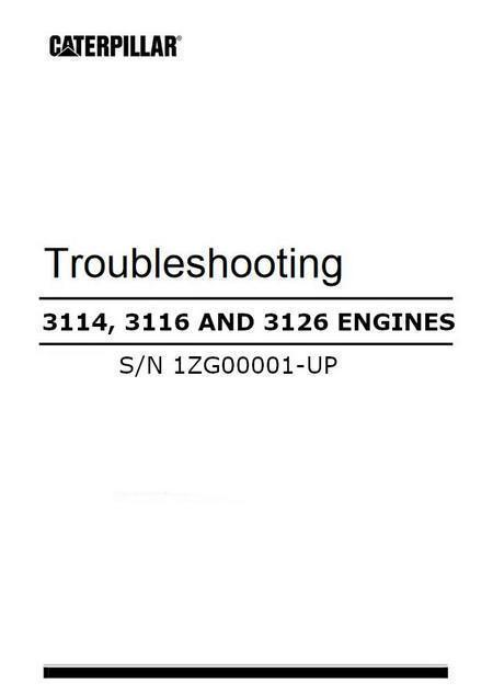 3114 3116 3126 troubleshooting manual cover