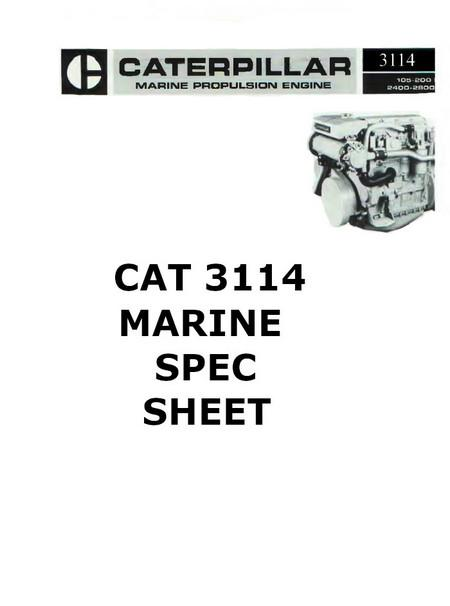 Cat 3114 3116 3126 Engine Manuals And Spec Sheets