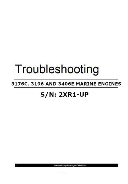 cat 3176, 3196, 3406E troubleshooting manual p1
