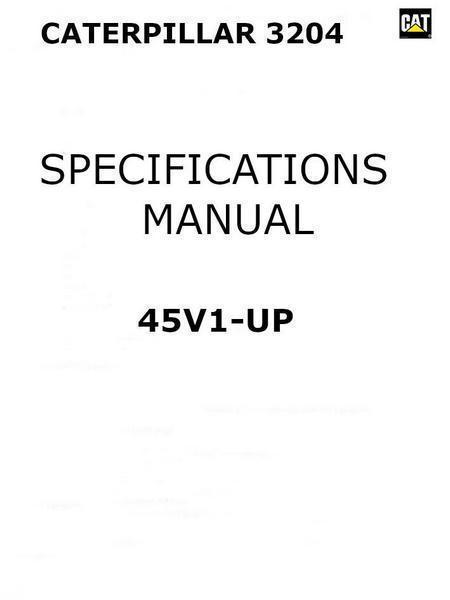 specifications manual cover
