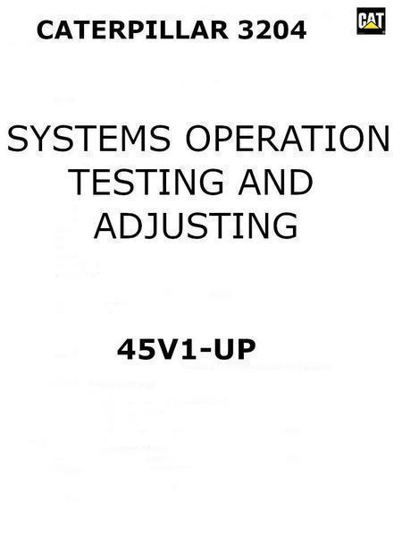 systems operation, testing and adjustments manual cover