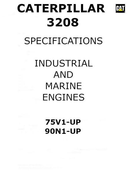 3208 Industrial and marine engine attachments p1