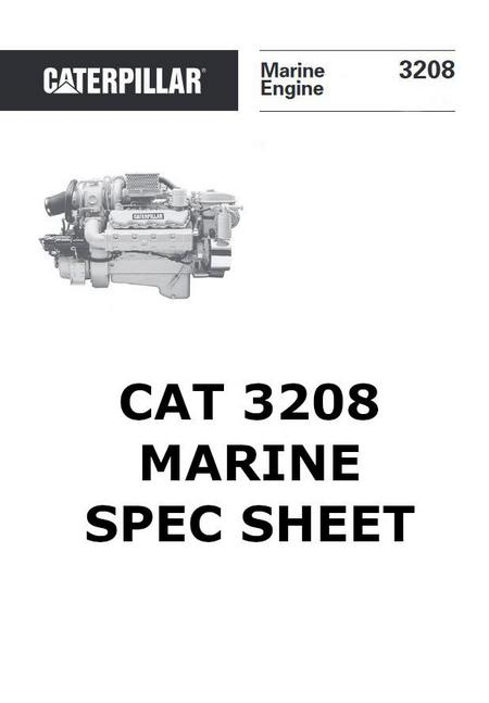 CAT 3208 marine spec sheet