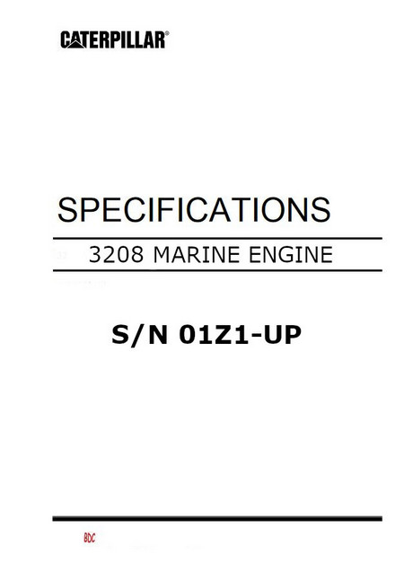 Marine 3208 Specifications