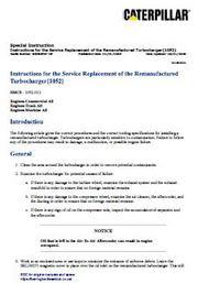 instructions for service replacement turbocharger