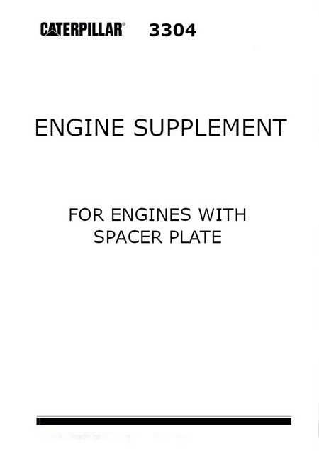 CAT 3304 3306 engine manual