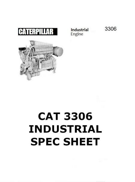 CAT 3306 industrial engine spec sheet page1