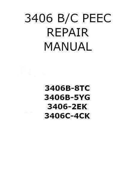 cat 3406b 3406c peec repair manual, p1