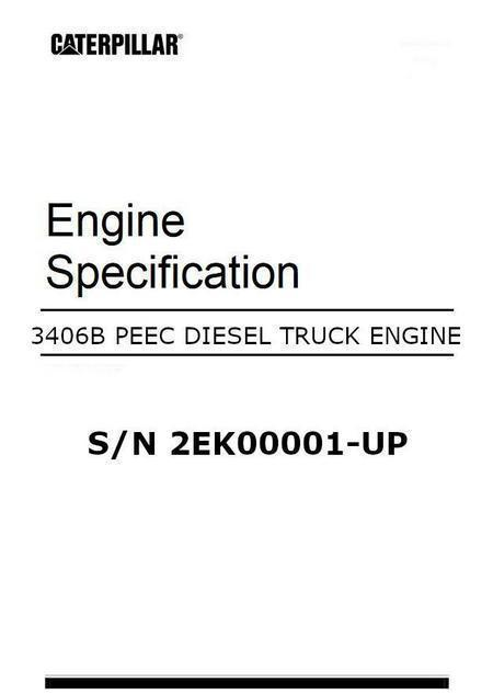 cat 3406 peec engine specification manual image