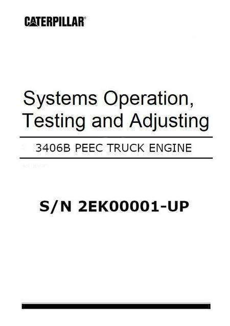 cat 3406 peec systems operation and testing manual image