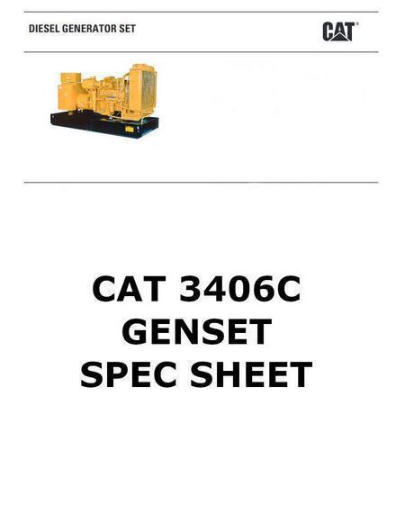 cat 3406 gensset spec sheet image p1