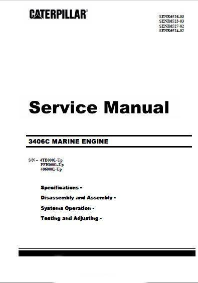 CAT 3406C non-electronic Service Manual