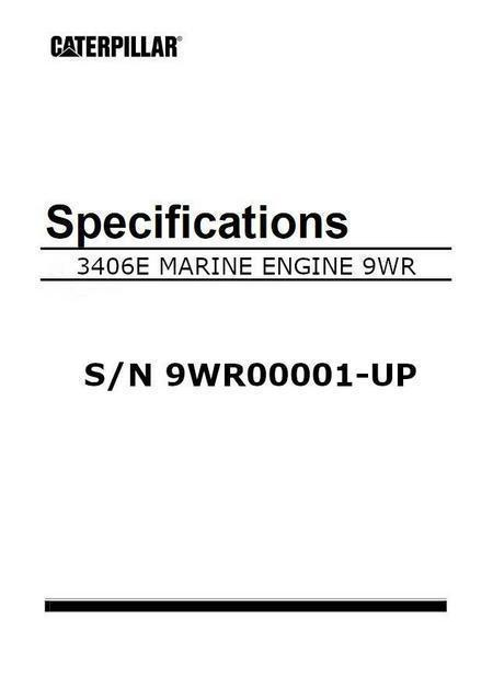 cat 3406E engine specification manual