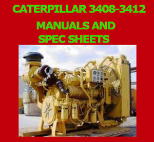 CAT 3408 manuals and spec sheets snip