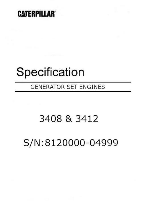 CAT 3408 3412 specification manual p1 image