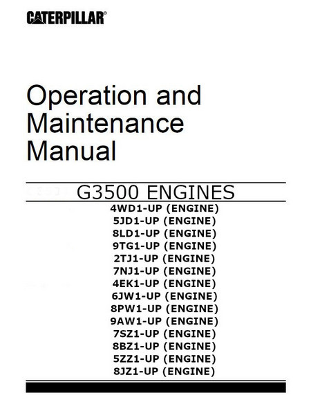 cat G3508 operation and maintenance manual image