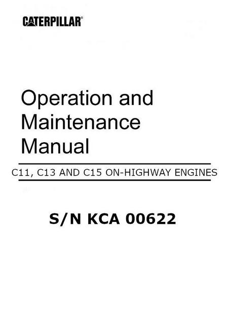 Cat C11 and C13, Operation and Maintenance for industrial engines, image p1