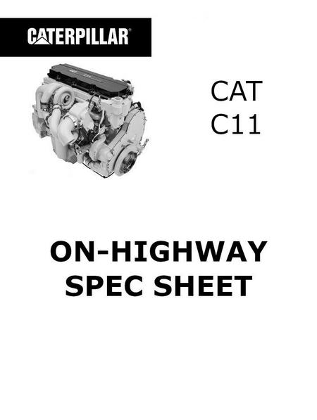 cat c11 on-highway spec sheet p1
