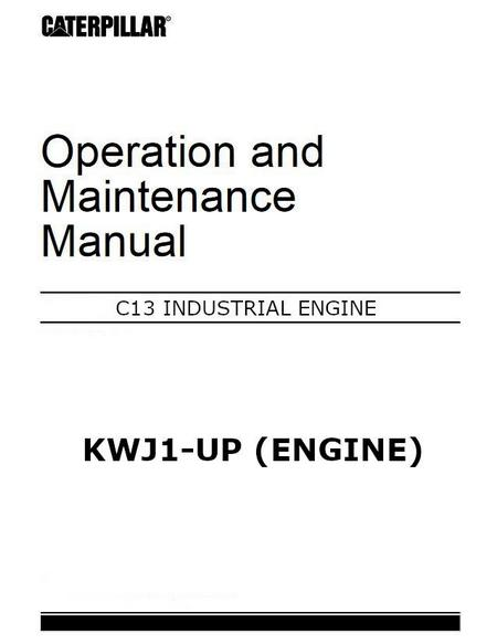 cat c13 operation and maintenance manual p1