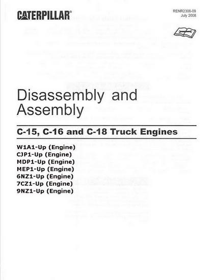 CAT C18 Disassembly and Assembly manual