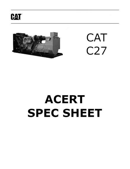 caterpillar c27 acert spec sheet p1 of 4