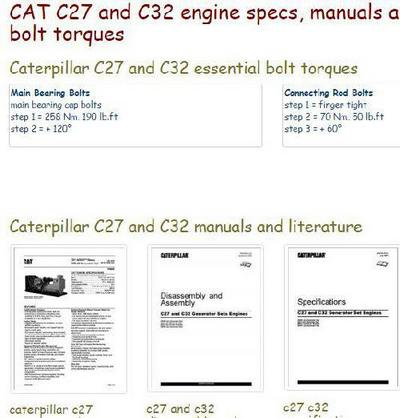 Caterpillar C27 and C32 essential specs - snip