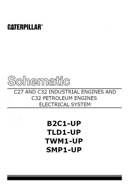 caterpillar C27 and C32 electrical schematic