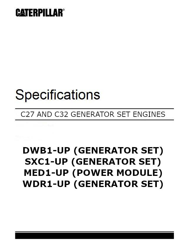 c32 disassembly and assembly manual cover