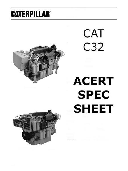 caterpillar c27 acert spec sheet p1 of 12