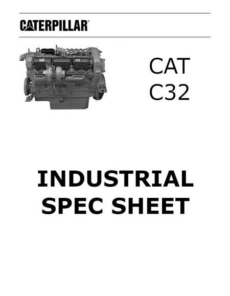 caterpillar c32 acert industrial spec sheet p1 of 4