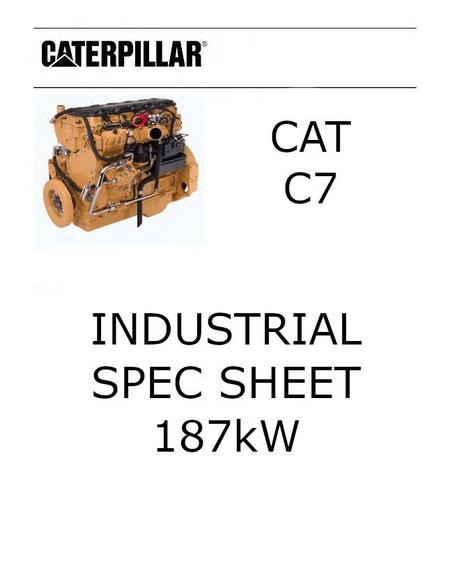 cat c7 187 kW spec sheet p1