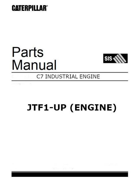 Caterpillar C7 parts manual, industrial engines, image p1 of 784 pages