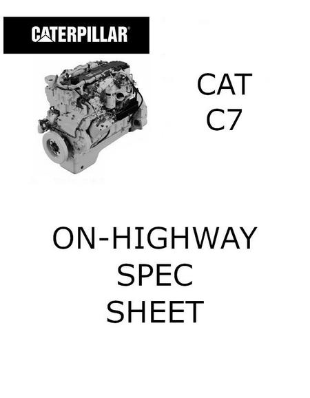Caterpillar C7 PDF Engine Manuals And Spec Sheets