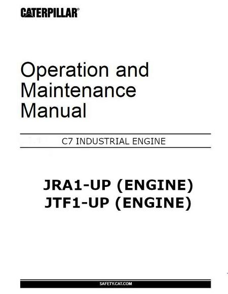 Caterpillar c7 operation and maintenance manual, p1
