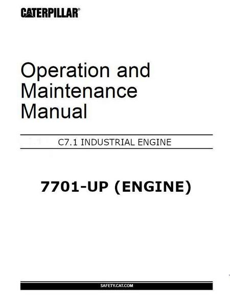 Cat C7 operation and maintenance manual p1