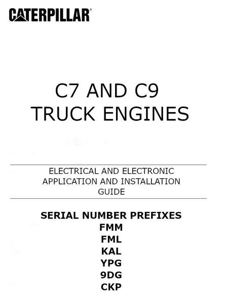 Cat C7 and C9 electric and electronic installation manual p1