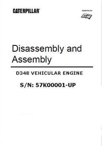 CAT D348 disassembly and assembly manual - image of p1