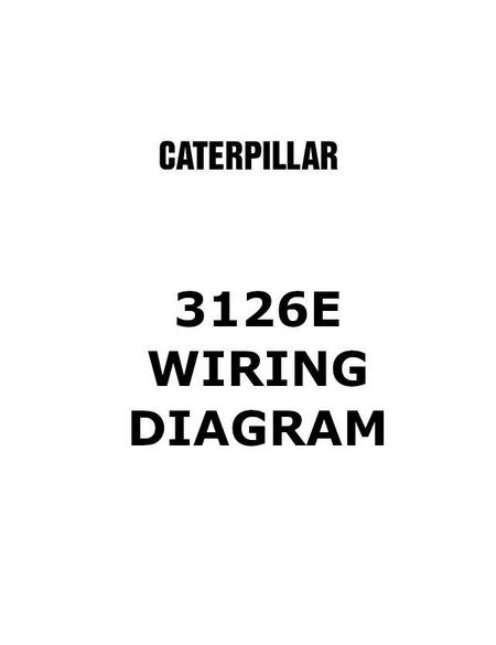 cat diesel engine electric and electronic manuals cat 3126 wiring schematic