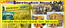 CATERPILLAR diesel engine manuals, bolt torques, specs