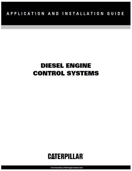 CAT engine control systems manual p1