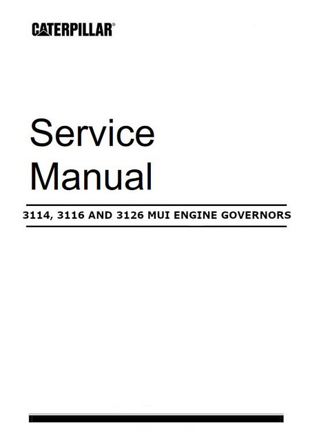 caterpillar 3116 repair manual free owners manual u2022 rh wordworksbysea com Cat 3126 Service Manual 3126 Caterpillar Engine Service Parts