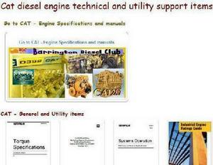 Caterpillar General torques, serial numbers, specs, dictionaries