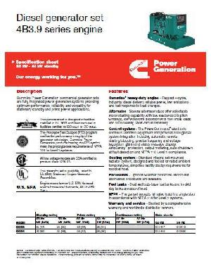 Cummins 4BT engine spec sheet p1 of 4