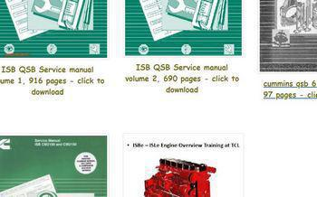 manuals and spec sheets for Cummins ISB and QSB engines